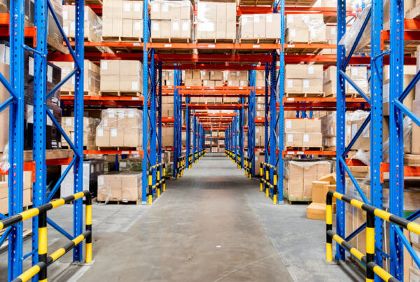 interior of commercial storage facility